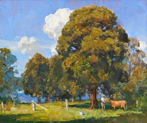 Arthur Streeton - Noon, Olinda