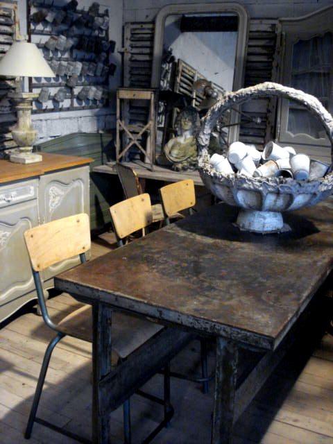 Atelier de campagne style industriel - Table atelier industriel ...