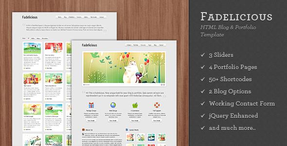 Themeforest Fadelicious - HTML Blog & Portfolio Template UPDATE v1.3