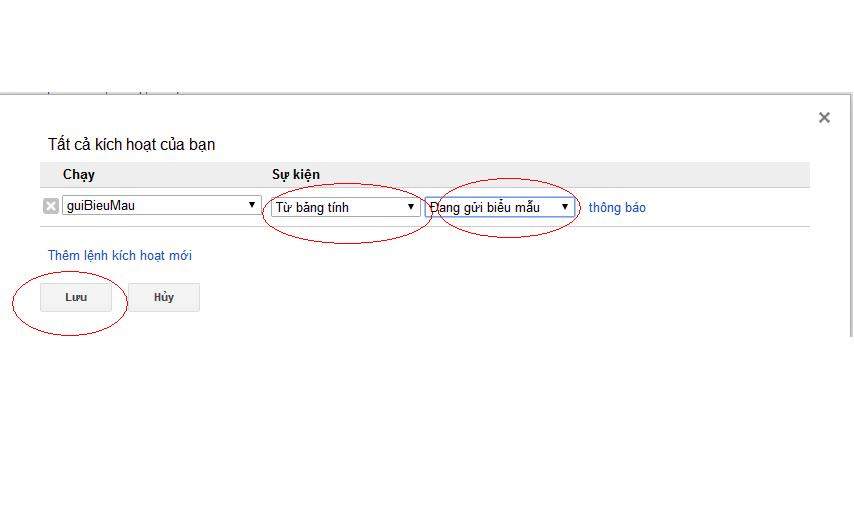 Hướng dẫn cài đặt form google drive gửi thông báo vào mail