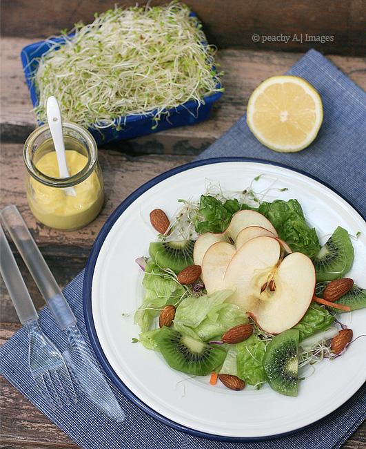 Almond Kiwi Alfalfa Salad