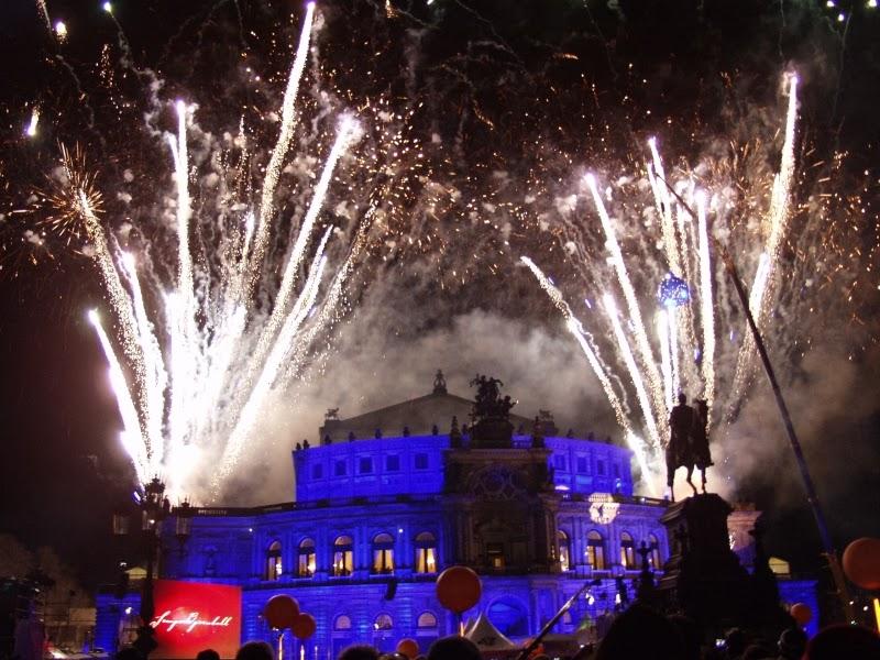 Feuerwerk Openairball Dresden Semperopernball