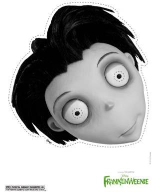 Disney's Frankenweenie Free Printable Victor Halloween Mask
