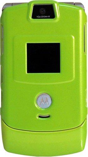 Motorola Razr V3 Lime Plastic Clip on Cover