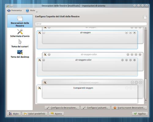 KDE - Decorazioni delle finestre