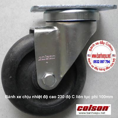 Bánh xe đẩy chịu nhiệt độ 250 độ C Colson của Mỹ