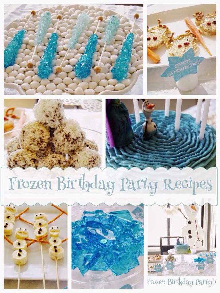 Frozen Birthday Party Recipes Food Ideas