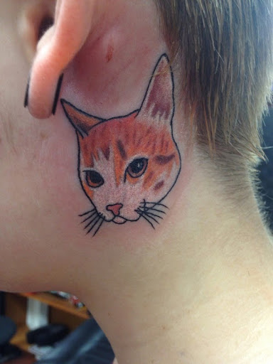 50 sweet and lovely cat tattoos tattoos ideas k for Fat cats tattoos