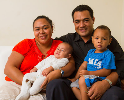 Tevita and Luseane's family