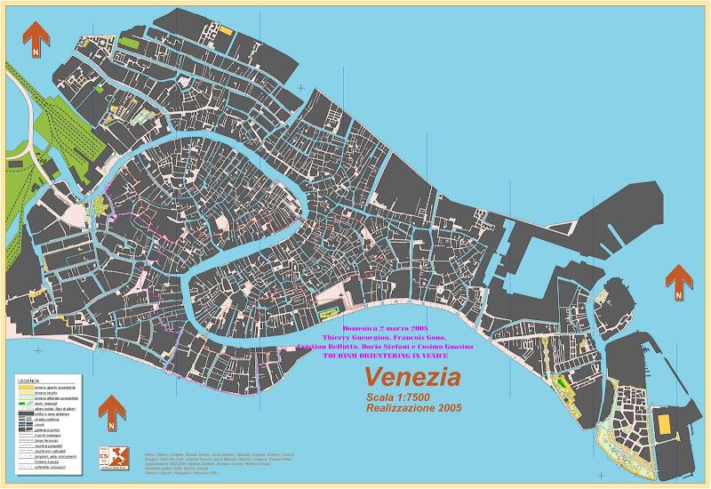 Cartina Venezia Centro Storico.Orienteering Nei Centro Storici
