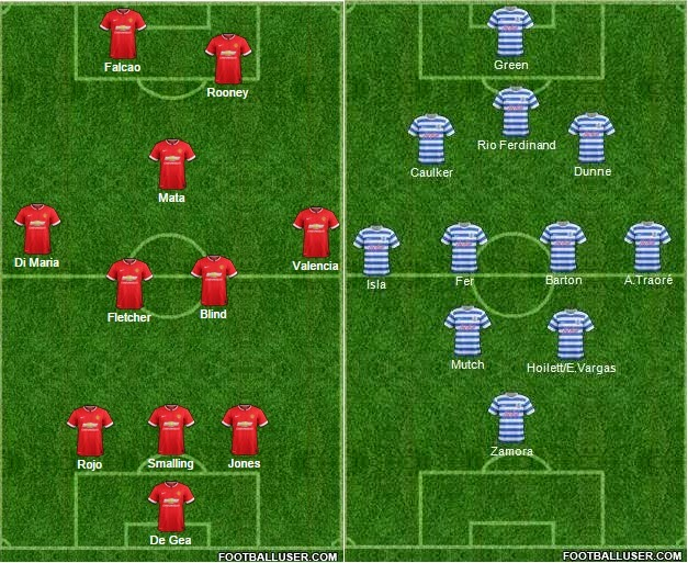Possible Man Utd Vs QPR Lineups U0026 Predictions 2014 15