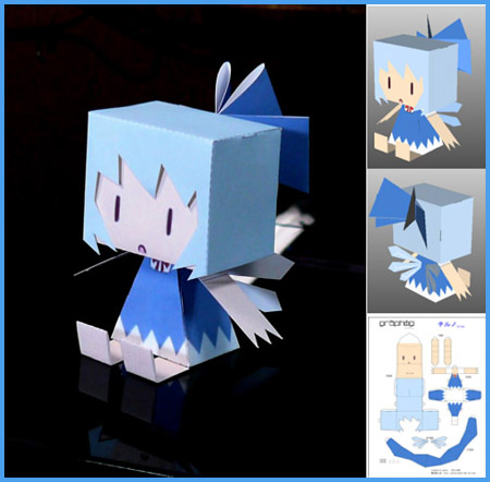 Graphig Cirno Paper Toy