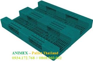Pallet nhựa nhập khẩu 3 thanh chặn