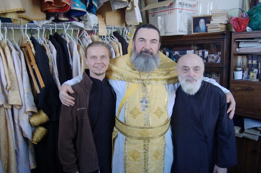 Диакон Никифор Виденович, о. Андрей, чтец Илья
