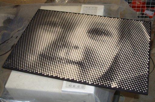 CNCで描く(Halftone Pictures drew by CNC) + monogocoro