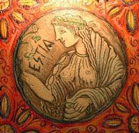 Θεά Εστία,θεά της οικίας και του σπιτιού,οικογενειακή θαλπωρή,ολύμπιοι θεοί.