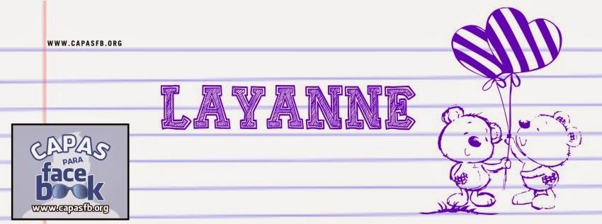Capas para Facebook Layanne