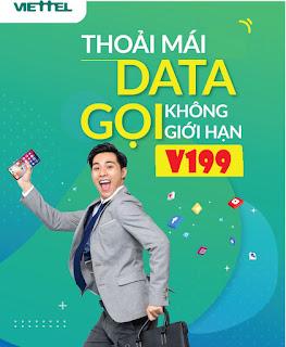 MIỄN PHÍ 180 GB, Gọi Tẹt ga Gói V199 Viettel