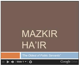 Citizens Academy: Mazkir Ha'ir
