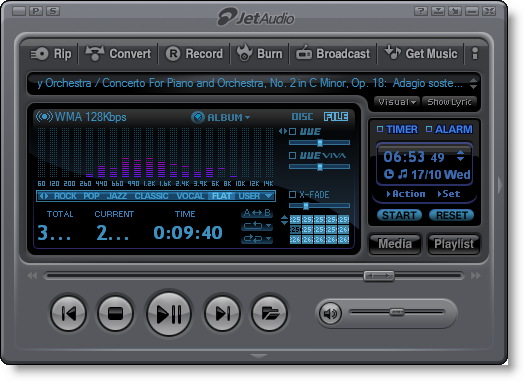 Screenshot of jetAudio v.8.0.17 Basic Multimedia Player PC Software Free Download at Alldownloads4u.Com