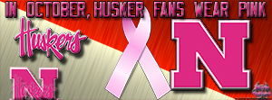Huskers Breast Cancer Awareness Pink Facebook Cover Photo
