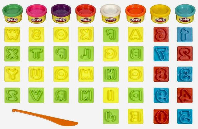 Bộ bột nặn chữ số vui nhộn PlayDoh 21018 gồm 36 khuôn tạo hình và 8 hộp bột nặn đủ màu sắc
