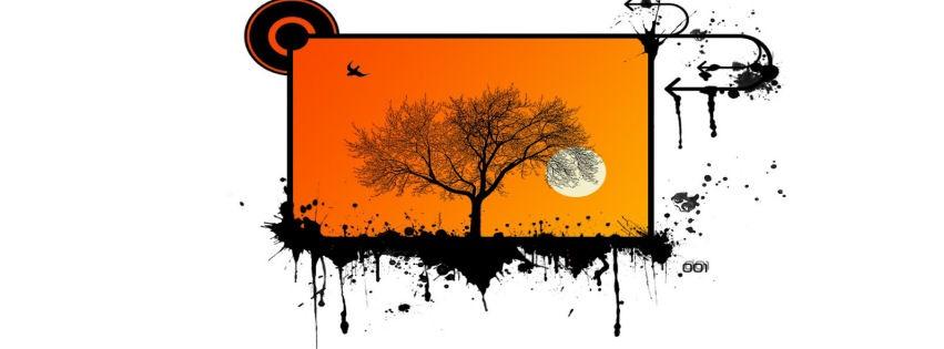 Ağaç ve dolunay kapak fotoğrafları
