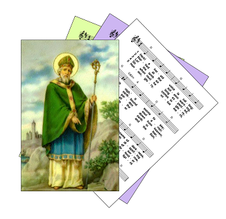 St Patrick / St Pattie picture on hymn sheet music icon