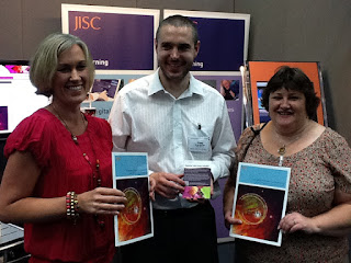 Proud JISC team with the new publication 'Emerging Practice in a Digital Age'