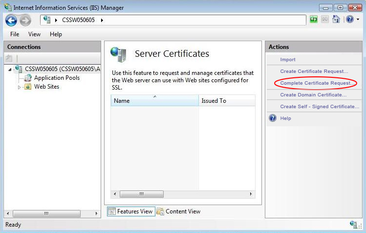 how to install wildcard ssl certificate in iis 7?