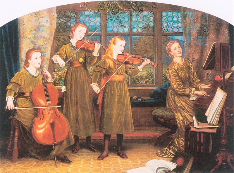 Arthur Hughes - The Home Quartet. Mrs. Vernon Lushington and Her Children