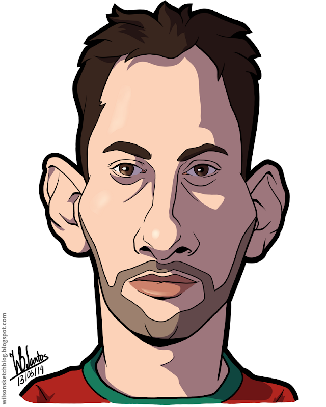 Cartoon caricature of Beto.