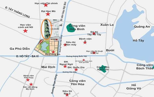 Vị trí Chung cư 43 Phạm Văn Đồng - Tòa HH