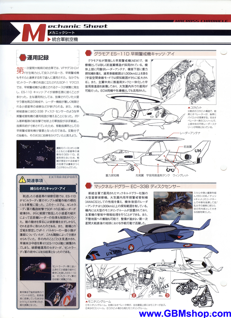 Macross ES-11D Cat's Eye Mechanic & Concept Macross Chronicle