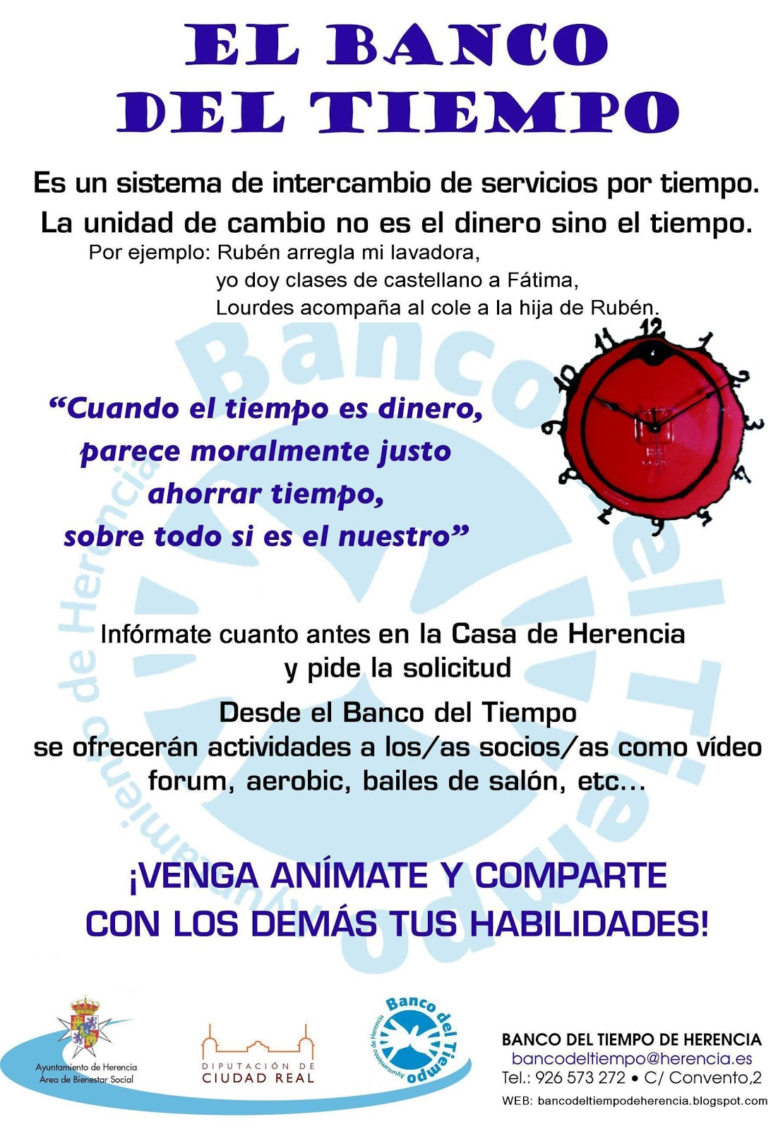 BANCO DEL TIEMPO DE HERENCIA: 2011