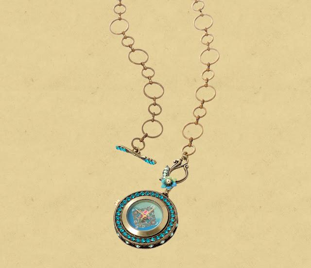 дамский кулон-часы