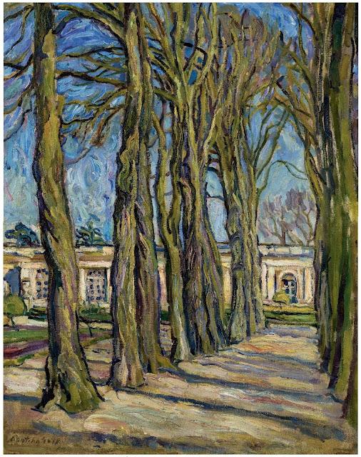 Pyotr Konchalovsky - Versailles. L'Allee. 1908