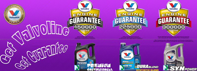There are the Professional Series of Valvoline Motor Oil - Get Guarantee for each Product from Valvoline