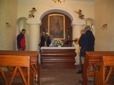 interiér kapličky sv. Floriána