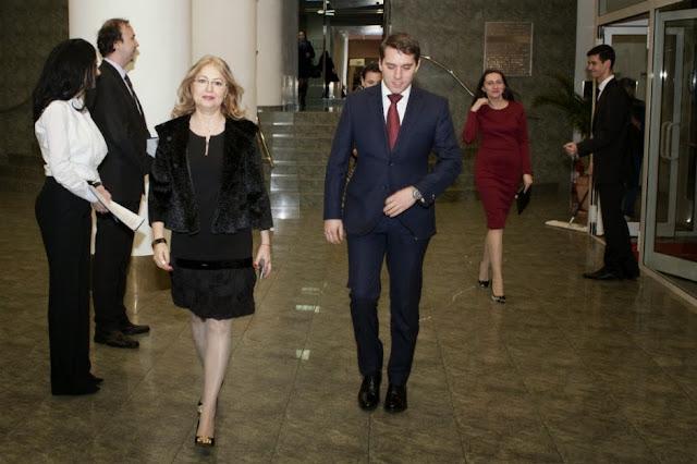 Principele Nicolae a participat la aniversarea a 150 de ani de la înfiinţarea Camerei Naționale de Comerţ, eveniment celebrat printr-o seară dedicată Corpului Diplomatic
