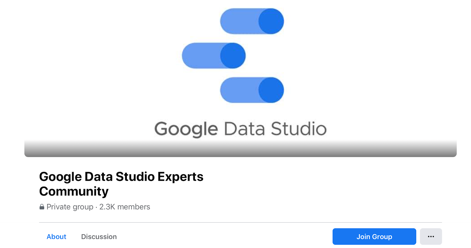private facebook group for google data studio experts
