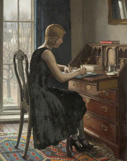 Harold Knight - Girl Writing