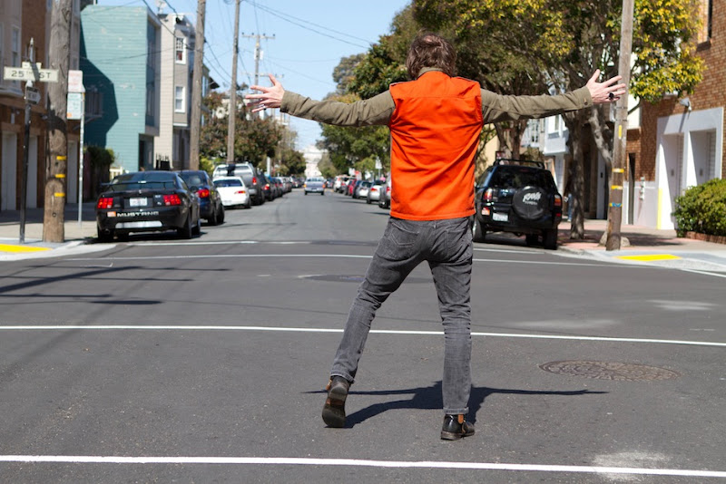 Hitchhiking in the San Francisco Hunting Coat