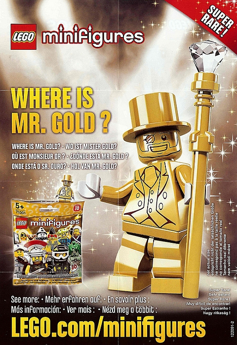 LEGO Minifigures Series 10 Mr. Gold