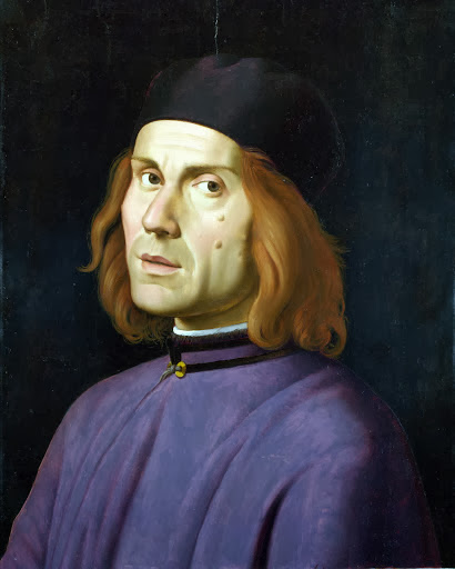 Lorenzo Costa - Portrait of Battista Fiera