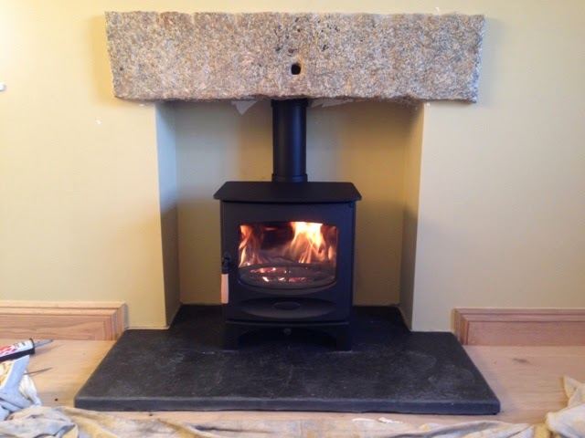 Richard Hirst Bespoke Building Maintenance Charnwood C5 Wood Burning Stove Reclaimed Slate