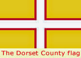 The County flag of Dorset - on dorsetdog.com