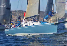 J/125 sailboat- Stark Raving Mad- sailing San Diego Hot Rum Series