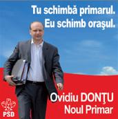 Afiş Ovidiu Donţu PSD campania pentru Primăria Suceava 2008