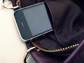 handbag + iphone